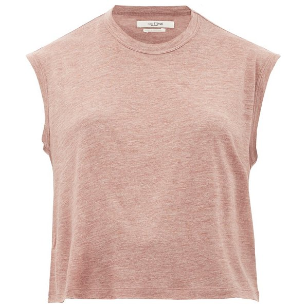 Etoile Isabel Marant anette jersey tank top in burgundy