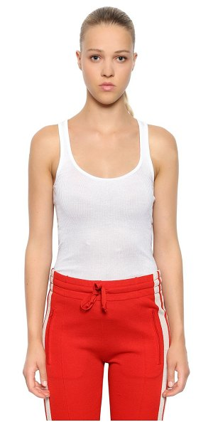 Etoile Isabel Marant Cotton ribbed jersey tank top in white