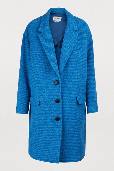 Etoile Isabel Marant Gimi coat in blue - According to Isabel Marant, modern ready-to-wear should...