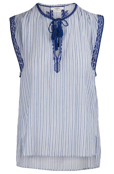 Etoile Isabel Marant Juditha cotton top in blue