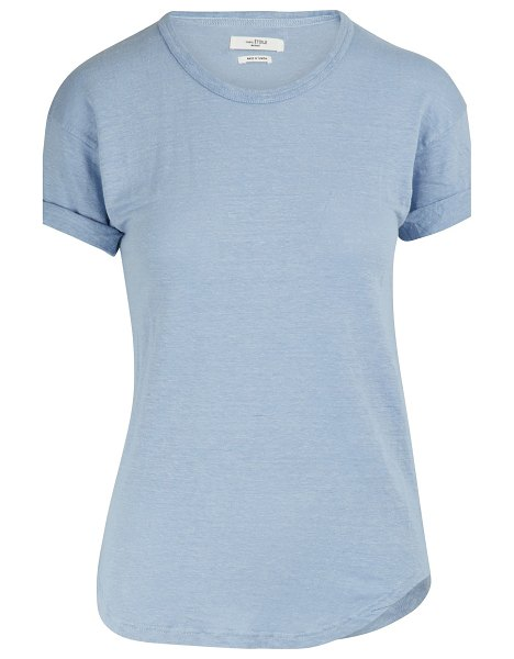 Etoile Isabel Marant Koldi linen T-shirt in light blue