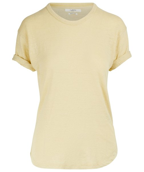 Etoile Isabel Marant Koldi linen T-shirt in light yellow