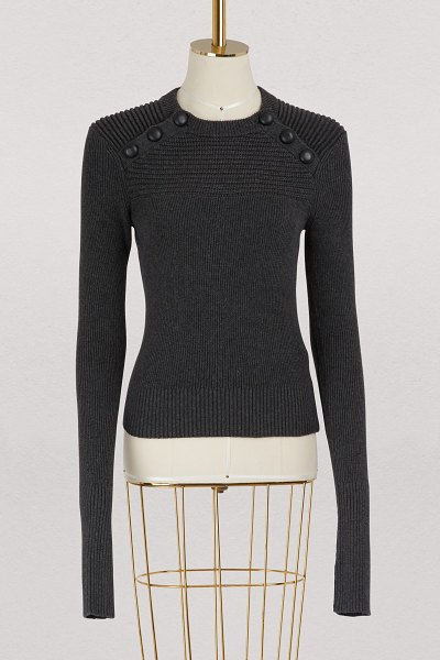 Etoile Isabel Marant Koyle cotton and wool sweater in anthracite