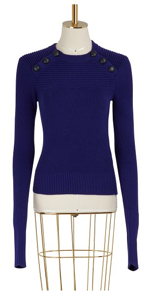 Etoile Isabel Marant Koyle cotton and wool sweater in navy