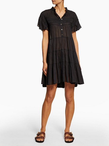 Etoile Isabel Marant lanikaye tiered cotton voile mini dress in black