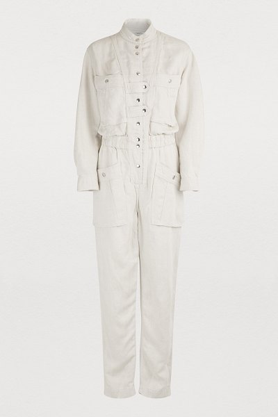 Etoile Isabel Marant Lashay jumpsuit in ecru - Isabel Marant Etoile is often inspired by workforce...