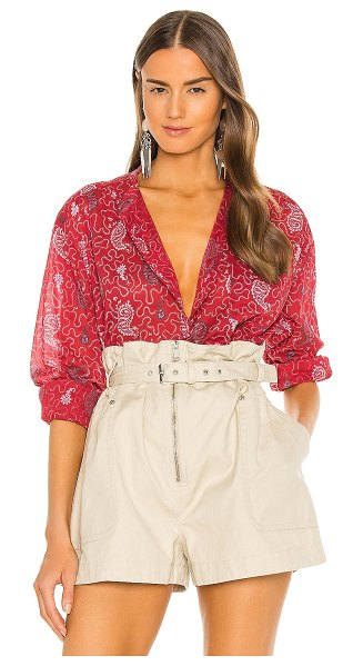 Etoile Isabel Marant mexika blouse in red
