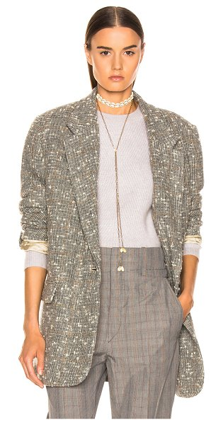 Etoile Isabel Marant Orix Blazer in gray,plaid - Self: 95% wool 5% polyamide - Lining: 100% viscose -...