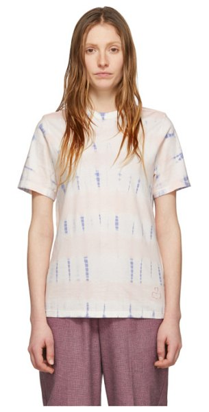 Etoile Isabel Marant pink and blue dena t-shirt in 23nu nude