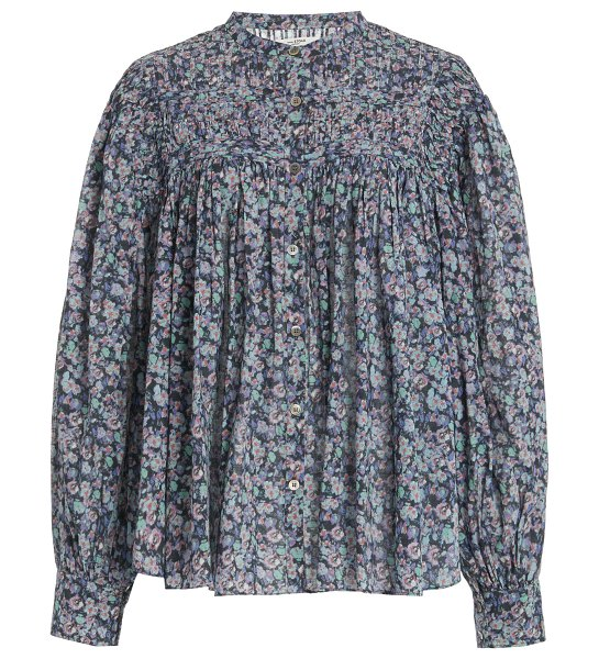 Etoile Isabel Marant plalia oversized pleated floral cotton top in multi
