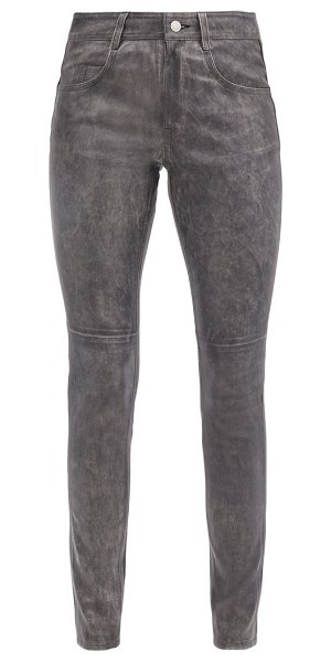 Etoile Isabel Marant taro leather trousers in black