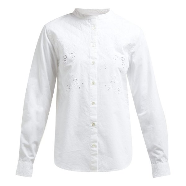 Etoile Isabel Marant willo embroidered cotton shirt in white