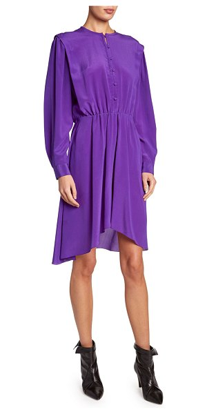 Etoile Isabel Marant Yandra Silk Shirtdress in purple