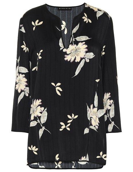 Etro floral blouse in black