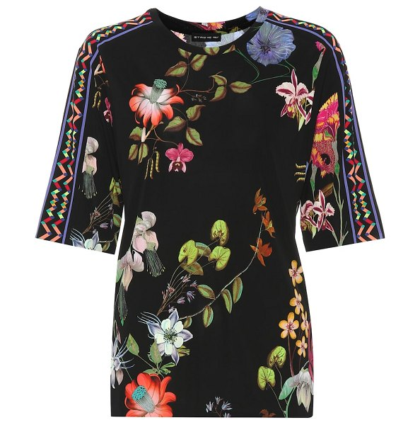 Etro floral top in black