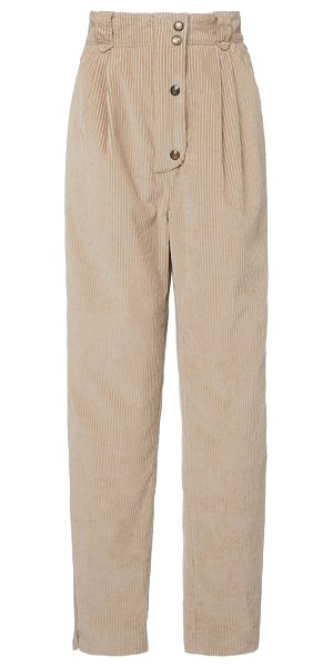 Etro tapered corduroy pants in neutral