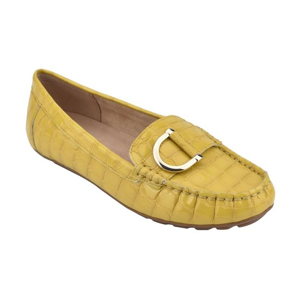 EVOLVE mink loafer in yellow leather