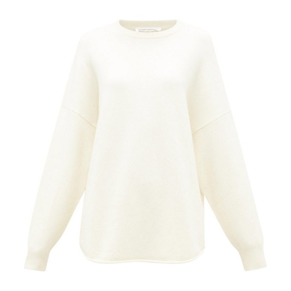 Extreme Cashmere no. 53 crew hop oversized cashmere-blend sweater in ivory