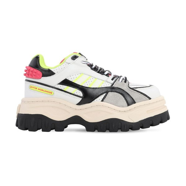 Eytys Grand prix platform leather sneakers in multicolor