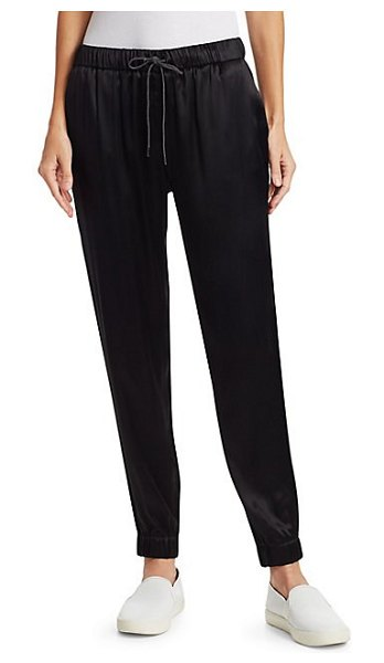 Fabiana Filippi cuffed satin sweatpants in black - Cuffed at the ankle, these relaxed-fit sweatpants have a...