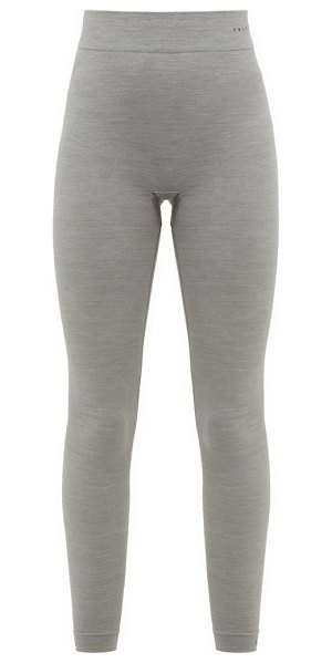 FALKE wool tech virgin wool blend thermal leggings in grey