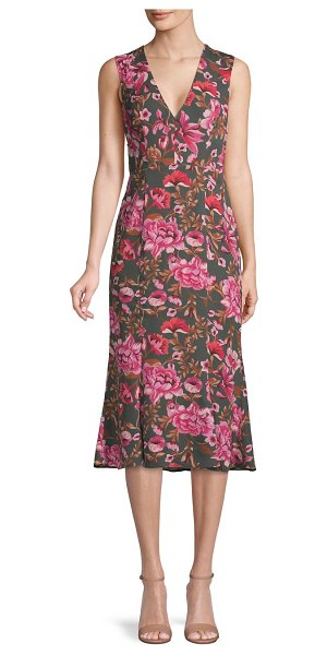 Fame and Partners The Bianca Floral Midi Dress in versailles