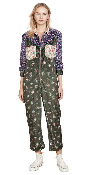 Farm Rio mixed print jumpsuit in mixed liberty