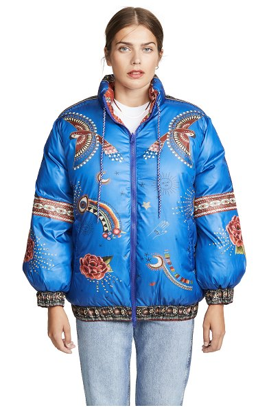 Farm Rio reversible mystic puffer jacket in mystic