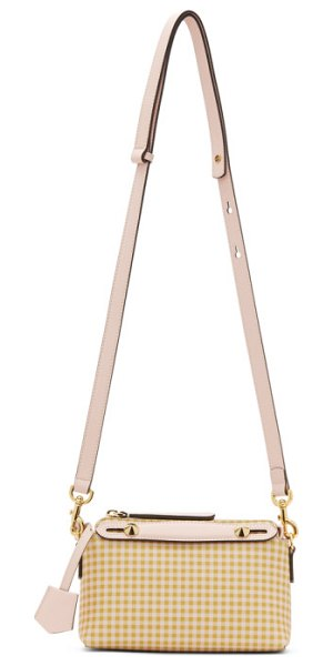 Fendi beige and pink small by the way bag in f1bds vichy