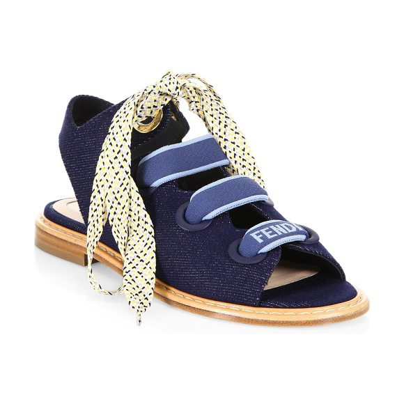 643129701a95b Fendi Ellettra Denim Sandals in Blue