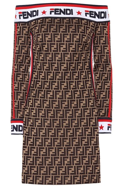 Fendi FENDI MANIA jersey dress in brown - As part of the FENDI MANIA collection done in...