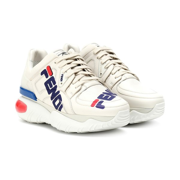 Fendi fendi mania leather sneakers in white - Fendi merges two of the season's biggest trends on these...