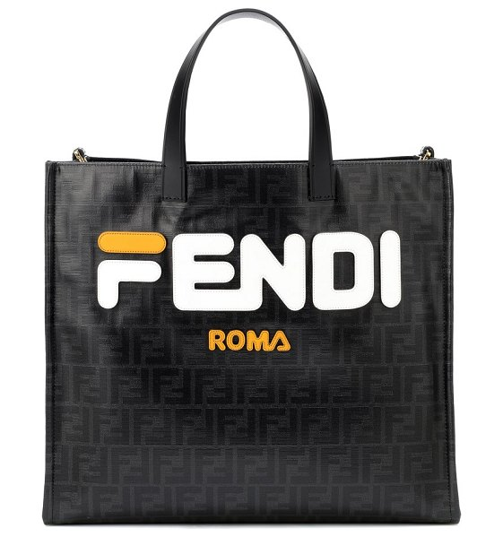 Fendi FENDI MANIA logo shopper in black