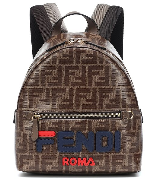 Fendi FENDI MANIA mini backpack in brown - FENDI MANIA has officially taken over and every piece...