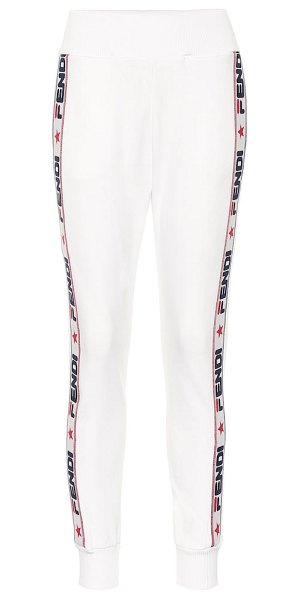 Fendi FENDI MANIA trackpants in white - These track pants from the FENDI MANIA collection are...