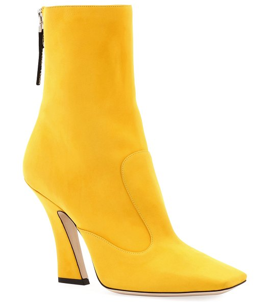 Fendi FFreedom 105mm Nubuck Leather Booties in yellow