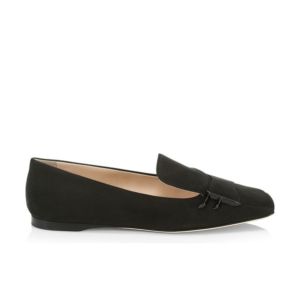 Fendi freedom suede loafers in black