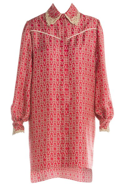 Fendi grill royale twill shirtdress in red