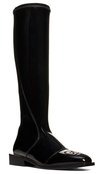Fendi knee high boot in black