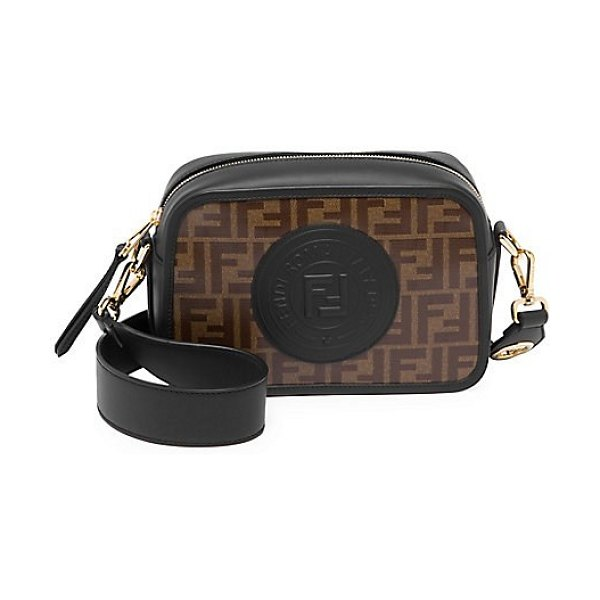 Fendi large ff camera bag in blue multi - Fendi and FILA collaboration results in this retro chic...