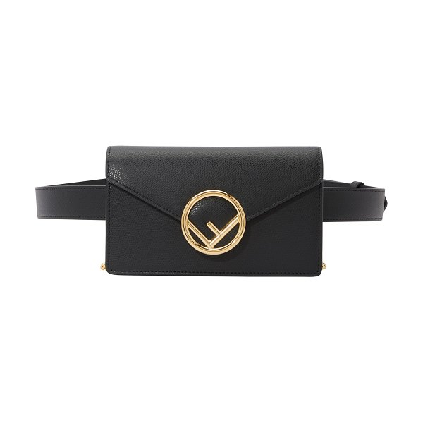Fendi Leather belt bag in nero