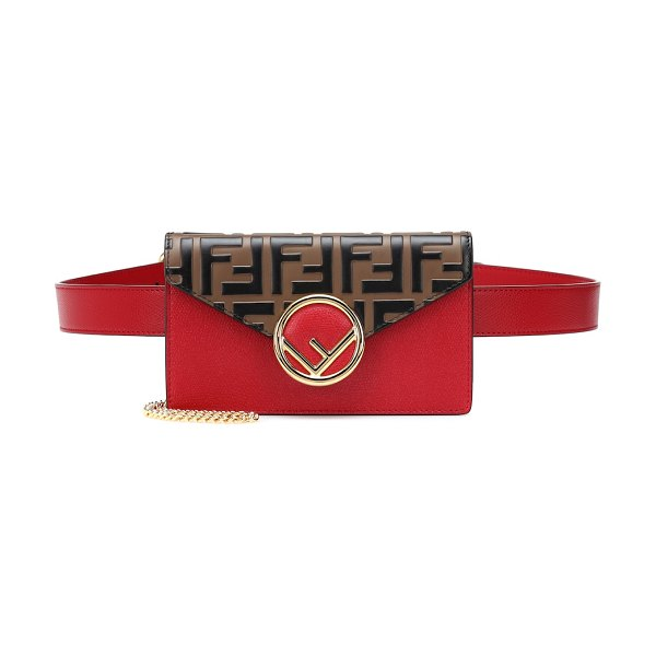 Fendi Leather belt bag in red - Fendi's red leather belt bag is exactly what you need to...