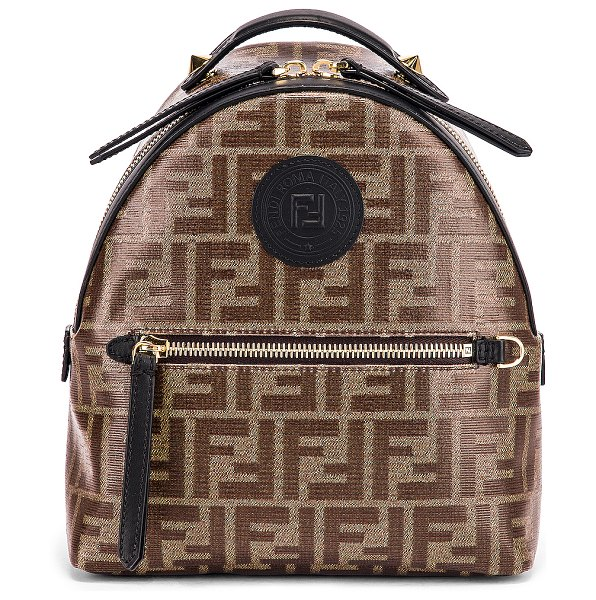 Fendi mini logo backpack in black