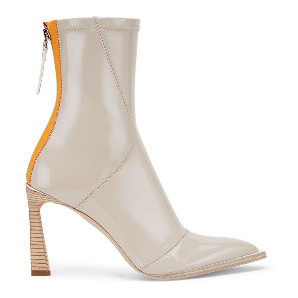Fendi Neoprene Zip Pointed Booties in beige