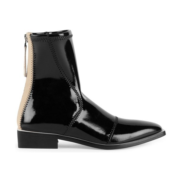 Fendi patent neoprene ankle boots in white