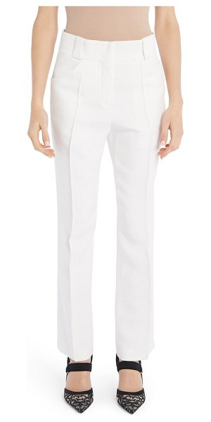 Fendi pintuck straight leg pants in white