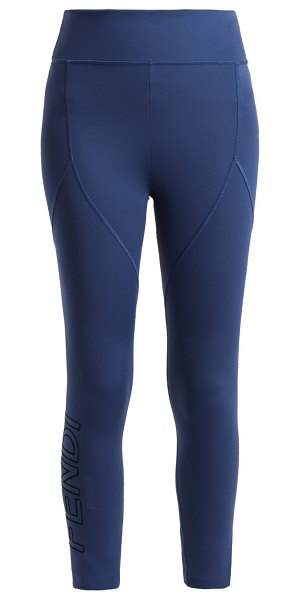 e935320540d2c Fendi Roma Leggings in Blue | Shopstasy