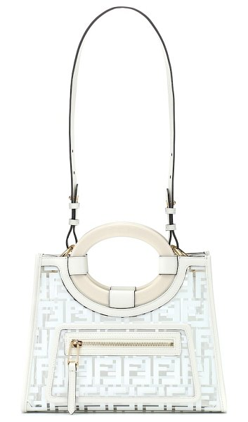 Fendi Runaway Small PVC tote in white - Tapping into the trend for transparent finishes, Fendi...