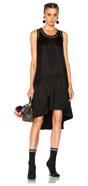 FENDI Sleeveless Mini Dress - Self: 74% acetate 26% viscose - Trim: 100% viscose -...