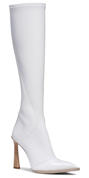 Fendi stivale patent tall boot in white patent
